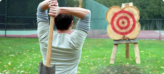 Axe Throwing Event Days in East and West Sussex